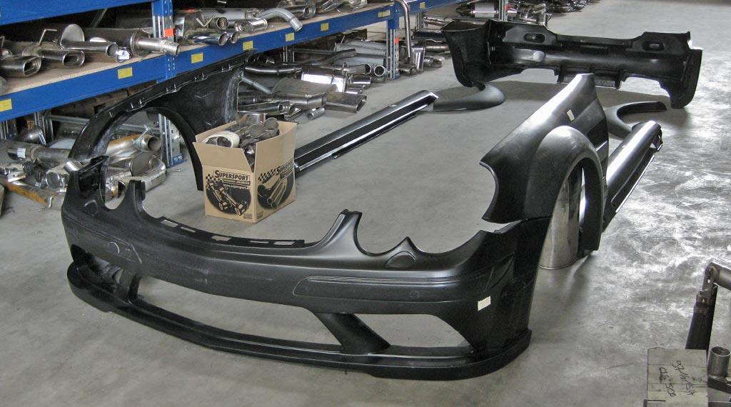 Mercedes Benz Clk Tuning Mit Prior Design Bodykit