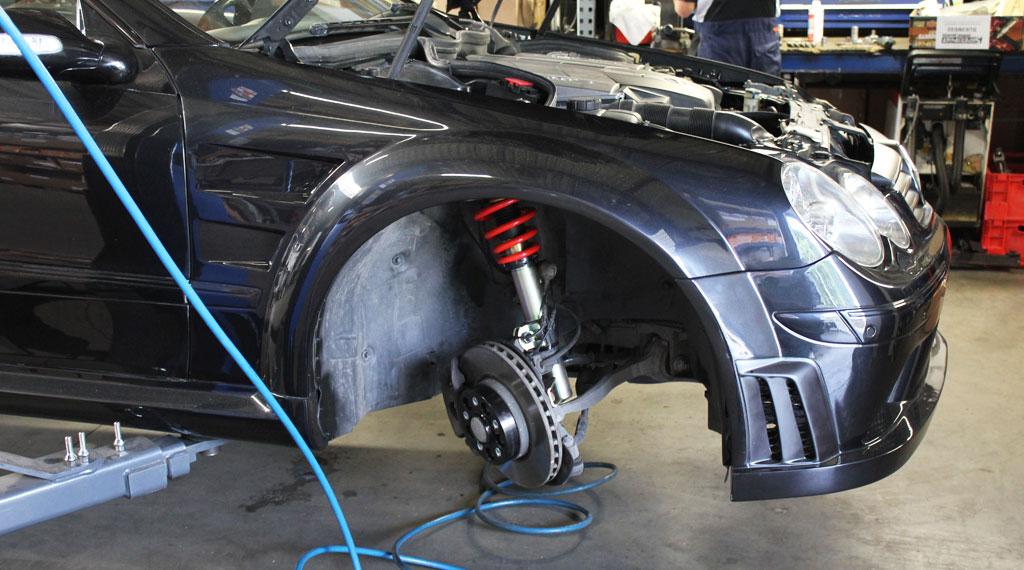 Mercedes-Benz-CLK-270-Prior-Tuning-Gewindefahrwerk