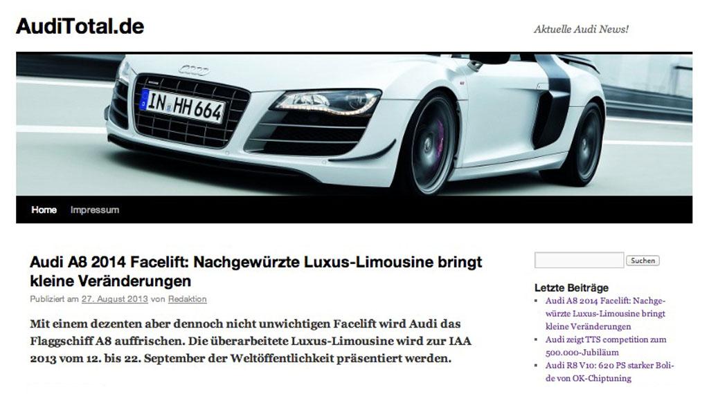 Auditotal.de Audi-Blog