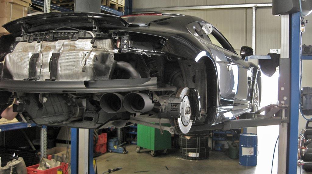 Riesen Endrohre aus 4301 Edelstahlfür den Audi R8