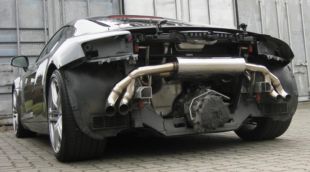 Sportauspuff für Audi R8 aus 4301 Edelstahl