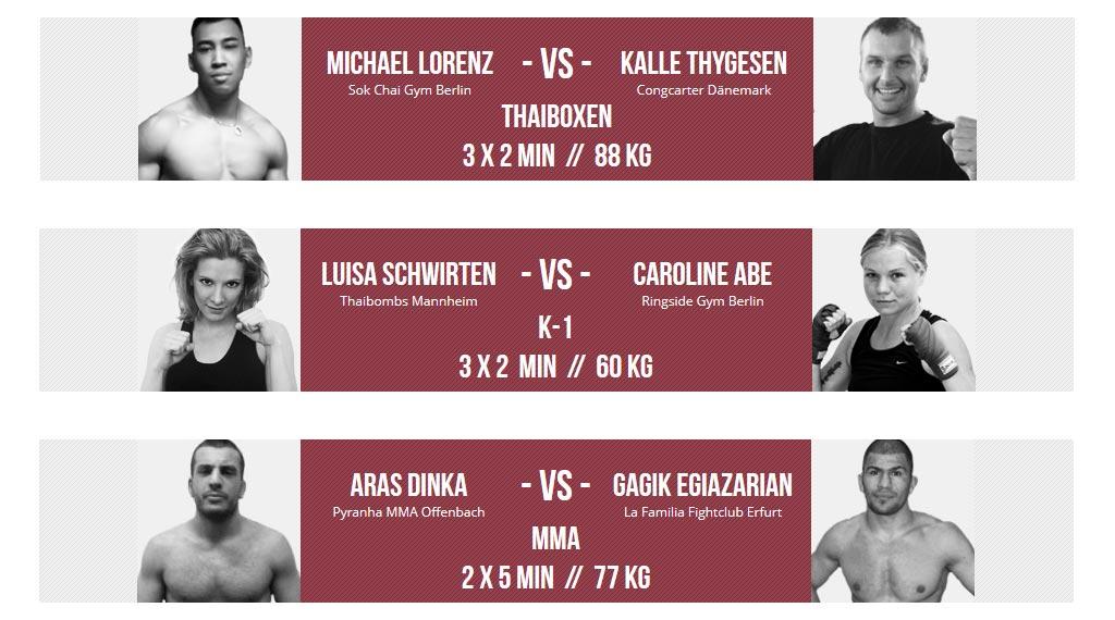 Thaiboxen bei der Heroes Fight Night 2014 im Huxleys Berlin-Neukölln