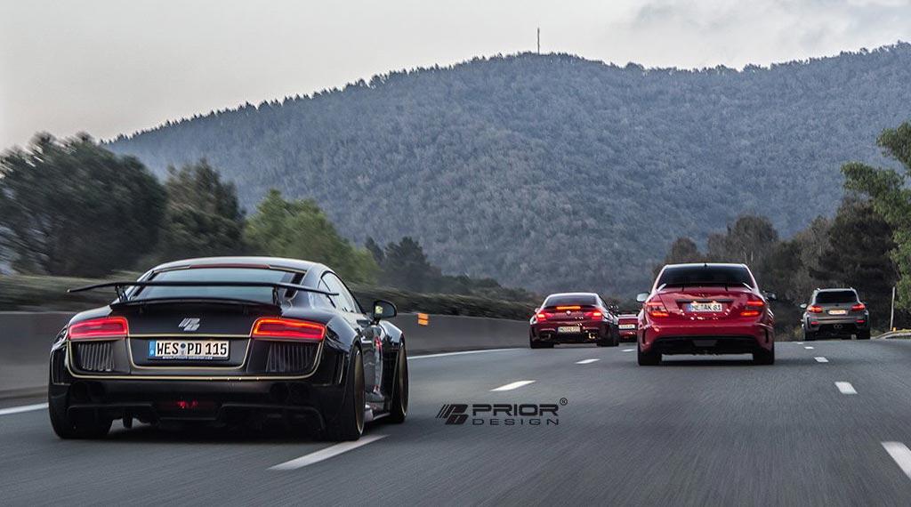 Audi R8 Tuning von PriorDesign auf Monaco-Tour