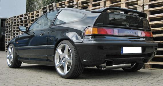Honda Civic CRX Sportauspuff aus 4301 Edelstahl