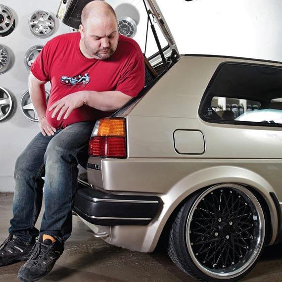 VW Golf 2 mit Supersport Gewindefahrwerk