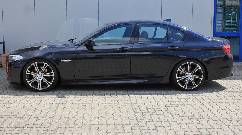 BMW F10 F11 Tieferlegung Sportfedern und Federteller