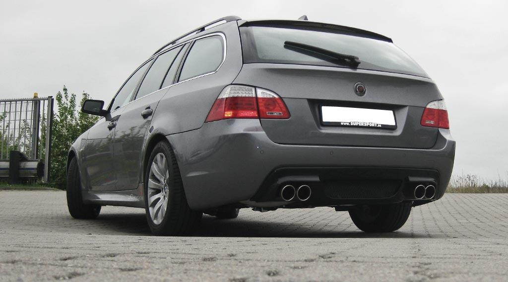 BMW E61 Touring Tuning mit Sportauspuffanlage von Supersport